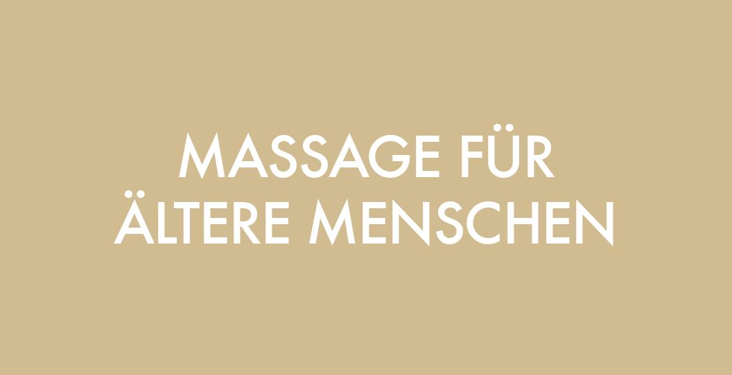 Massage Ausbildung für ältere Menschen