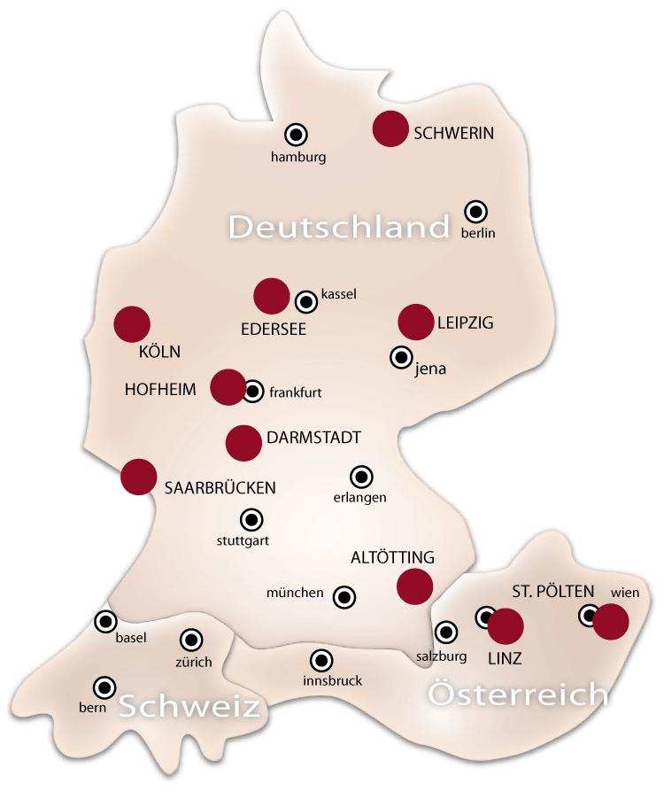 Massagschulen in Deutschland und Österreich nach TouchLife