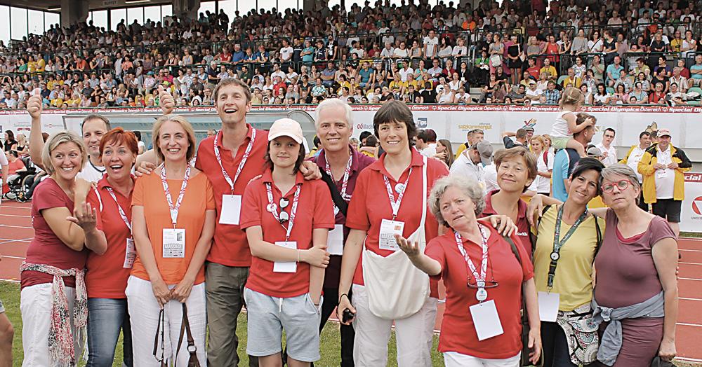 Special Olympics Österreich: TouchLife Massageteam bei der Abschlussfeier im Stadion