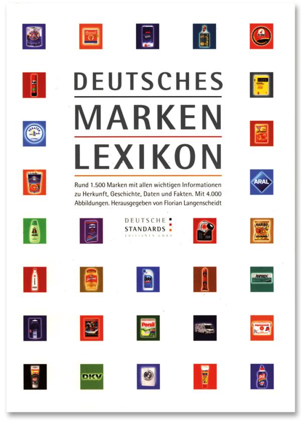 Das Cover des Deutschen Marken Lexikons, herausgegeben von Florian Langenscheidt